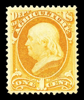 US Stamp Prices Scott # O94 - 1879 1c Agriculture Official. Cherrystone Auctions, Jul 2015, Sale 201507, Lot 2226