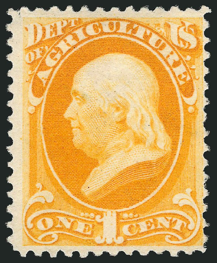 US Stamps Values Scott Cat. #O94: 1c 1879 Agriculture Official. Robert Siegel Auction Galleries, Sep 2014, Sale 1078, Lot 666