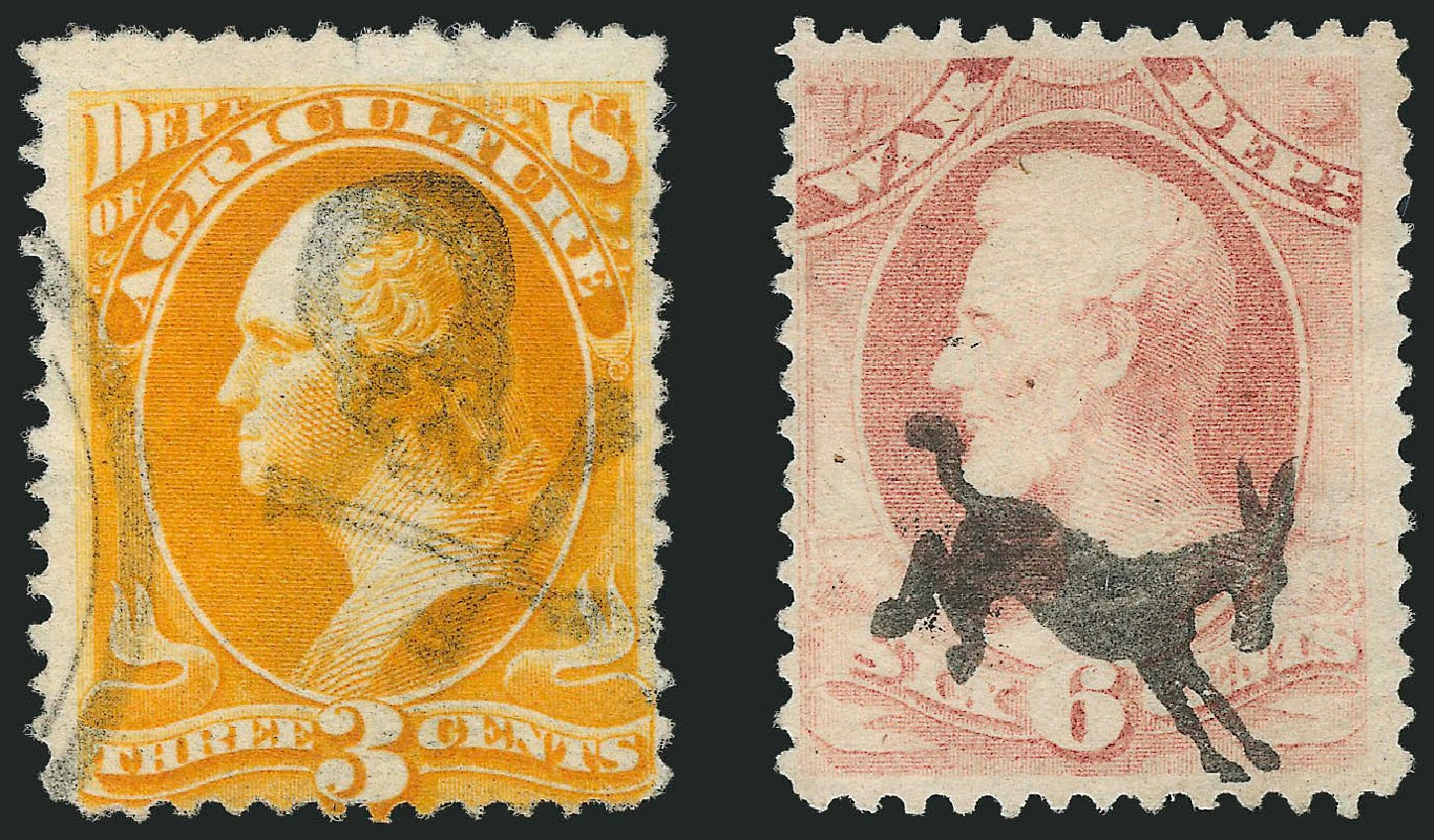 Costs of US Stamps Scott Catalog #O95 - 3c 1879 Agriculture Official. Robert Siegel Auction Galleries, Jun 2015, Sale 1100, Lot 120