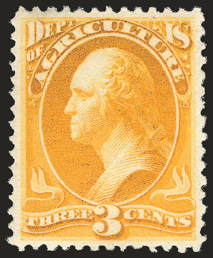 Value of US Stamps Scott # O95: 3c 1879 Agriculture Official. Robert Siegel Auction Galleries, Jun 2009, Sale 975, Lot 2240