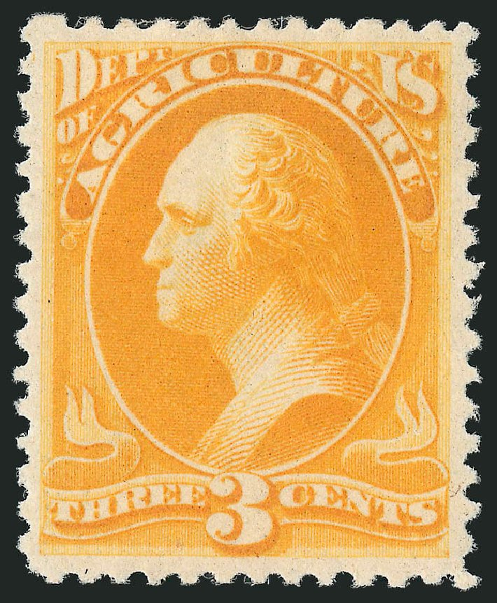 Values of US Stamps Scott Cat. O95 - 3c 1879 Agriculture Official. Robert Siegel Auction Galleries, Nov 2014, Sale 1085, Lot 4184