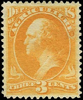 Prices of US Stamp Scott Catalog # O95 - 1879 3c Agriculture Official. Regency-Superior, Aug 2015, Sale 112, Lot 1195