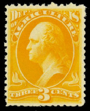 US Stamp Price Scott Catalogue # O95: 3c 1879 Agriculture Official. Daniel Kelleher Auctions, Dec 2013, Sale 640, Lot 623