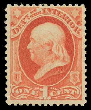 Price of US Stamps Scott # O96: 1879 1c Interior Official. Daniel Kelleher Auctions, Jul 2011, Sale 625, Lot 1169