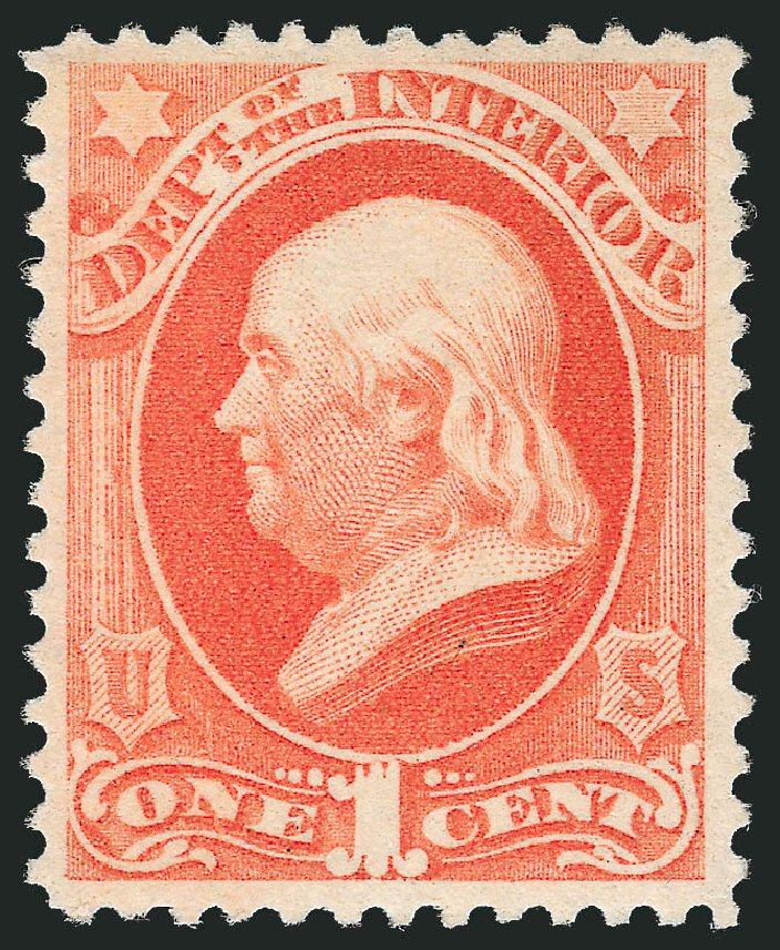 Price of US Stamp Scott Cat. O96: 1879 1c Interior Official. Robert Siegel Auction Galleries, Dec 2011, Sale 1017, Lot 979