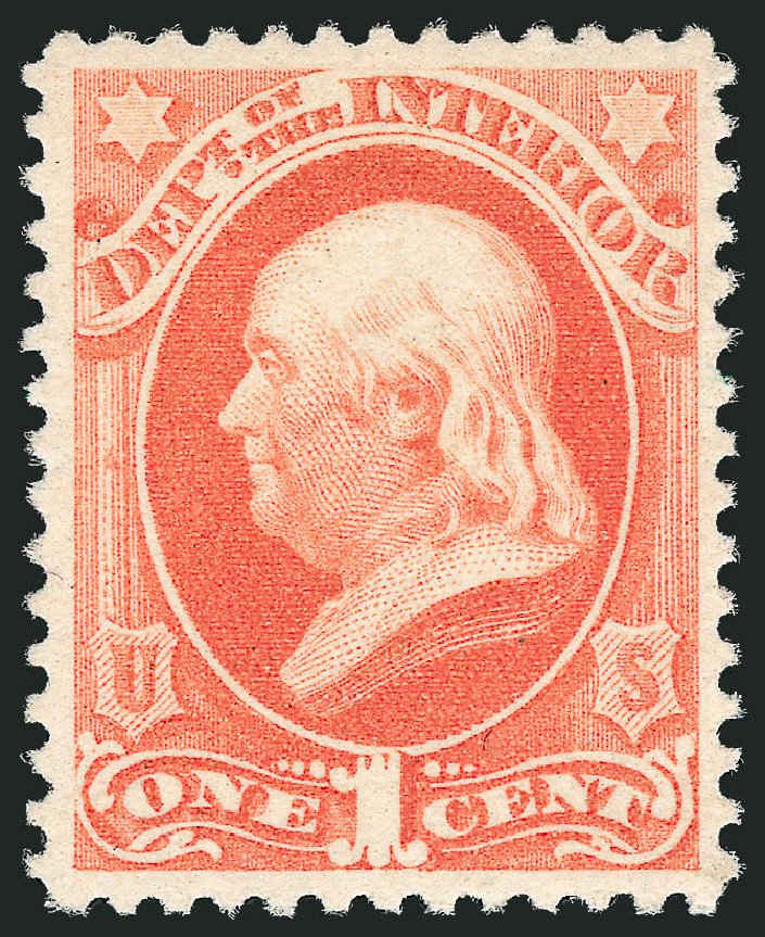 Price of US Stamp Scott O96: 1879 1c Interior Official. Robert Siegel Auction Galleries, Nov 2014, Sale 1085, Lot 4186