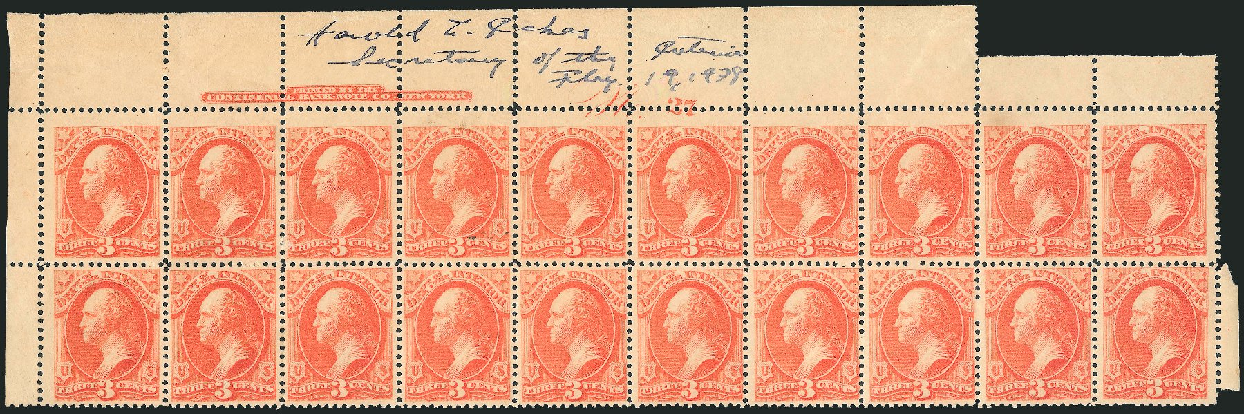 Cost of US Stamps Scott Catalog #O98: 3c 1879 Interior Official. Robert Siegel Auction Galleries, Nov 2014, Sale 1085, Lot 4189