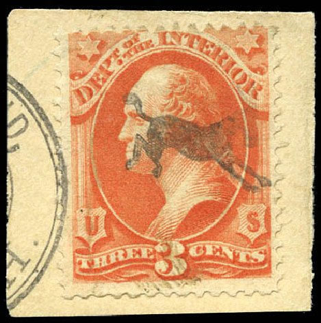 Cost of US Stamp Scott Cat. #O98 - 3c 1879 Interior Official. Matthew Bennett International, Sep 2011, Sale 338, Lot 2063