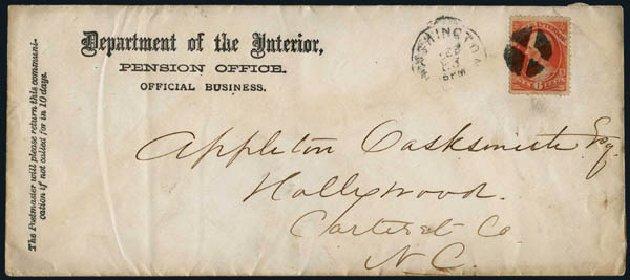 US Stamp Prices Scott Catalogue #O99: 6c 1879 Interior Official. Harmer-Schau Auction Galleries, Jan 2014, Sale 100, Lot 697