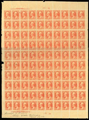 Value of US Stamps Scott Catalogue O99 - 1879 6c Interior Official. Matthew Bennett International, Mar 2011, Sale 336, Lot 1425