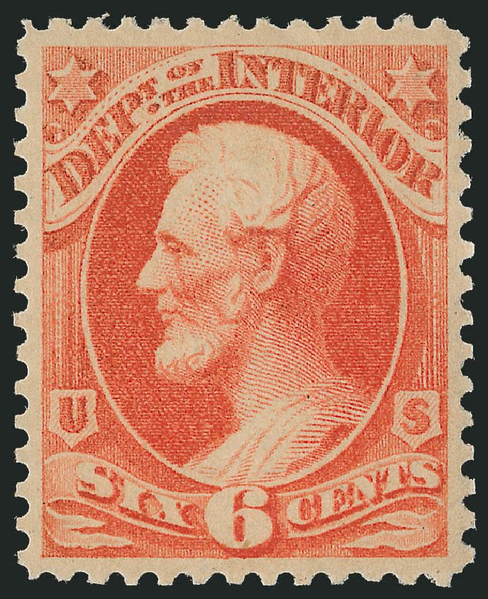Costs of US Stamps Scott Catalog # O99 - 1879 6c Interior Official. Robert Siegel Auction Galleries, Dec 2009, Sale 982, Lot 6142