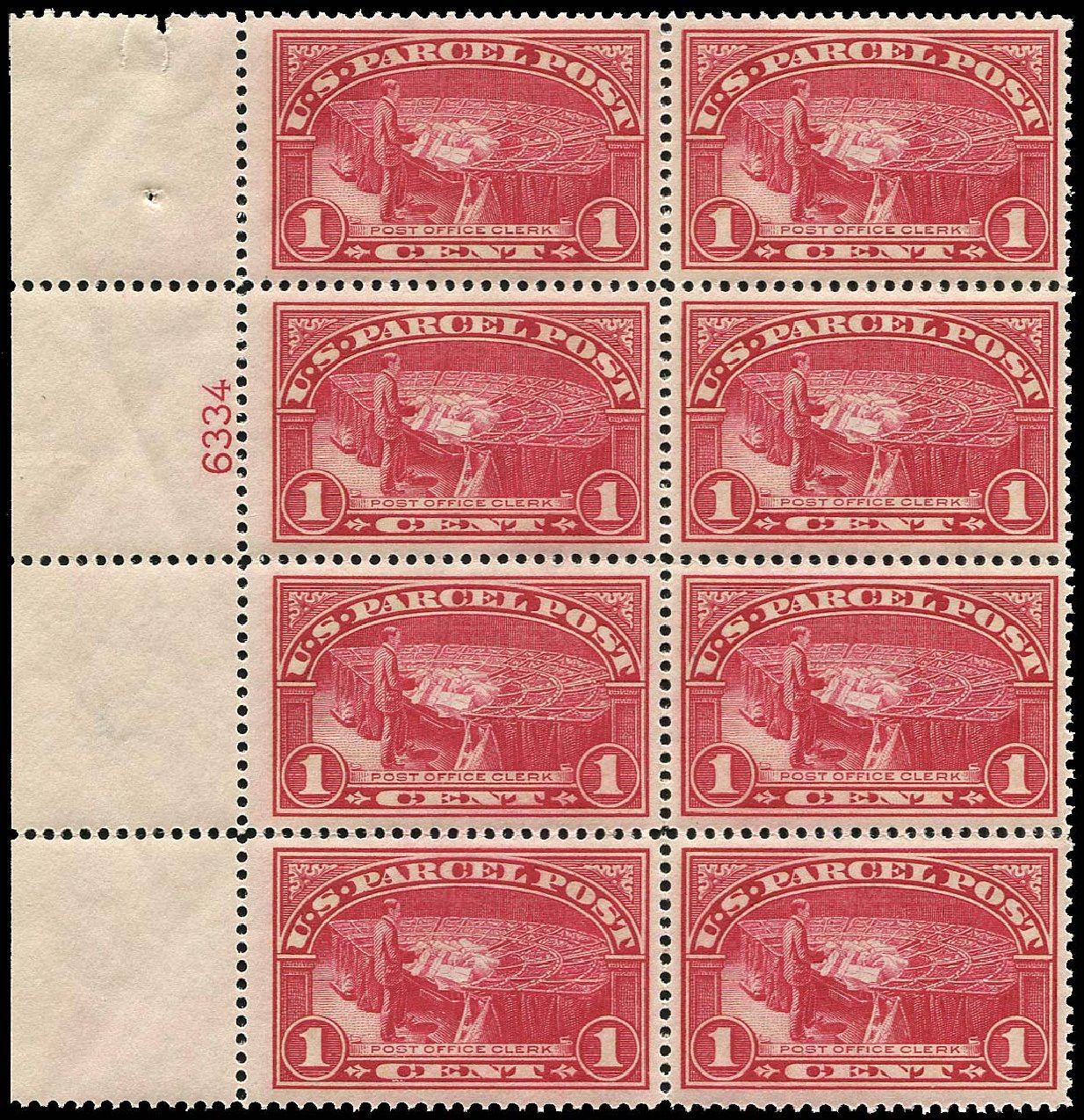 US Stamp Prices Scott Catalogue # Q1 - 1913 1c Parcel Post. Regency-Superior, Nov 2014, Sale 108, Lot 1449