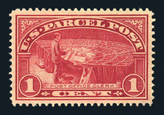 Prices of US Stamp Scott Catalog Q1: 1c 1913 Parcel Post. Harmer-Schau Auction Galleries, Aug 2015, Sale 106, Lot 2175
