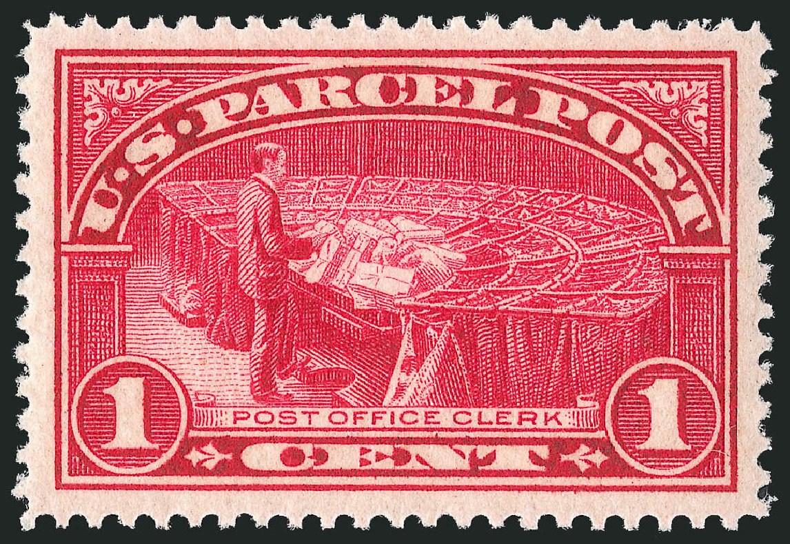 US Stamps Prices Scott Q1: 1913 1c Parcel Post. Robert Siegel Auction Galleries, Dec 2013, Sale 1062, Lot 893
