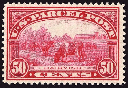 US Stamp Values Scott # Q10: 50c 1913 Parcel Post. Spink Shreves Galleries, Jan 2014, Sale 146, Lot 537