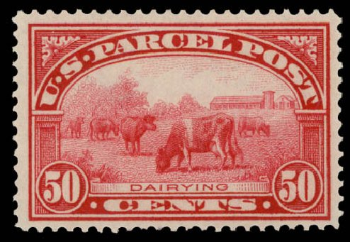 US Stamp Price Scott Catalog #Q10: 1913 50c Parcel Post. Daniel Kelleher Auctions, May 2015, Sale 669, Lot 3438