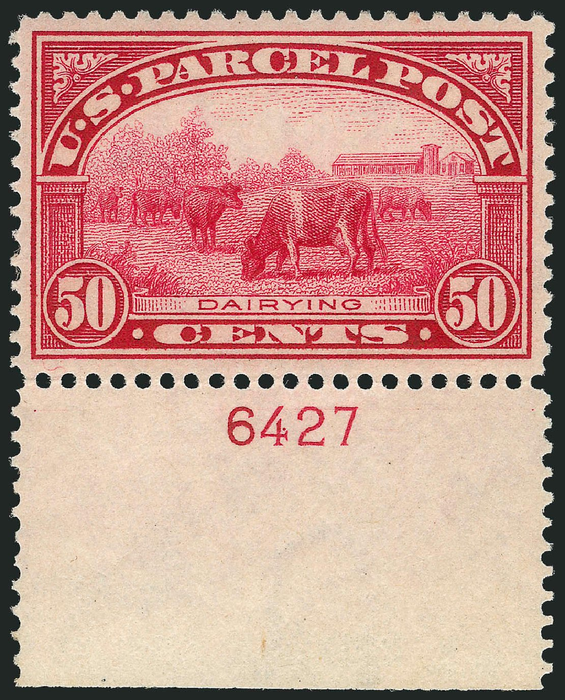 Cost of US Stamp Scott # Q10 - 1913 50c Parcel Post. Robert Siegel Auction Galleries, Nov 2013, Sale 1061, Lot 4228