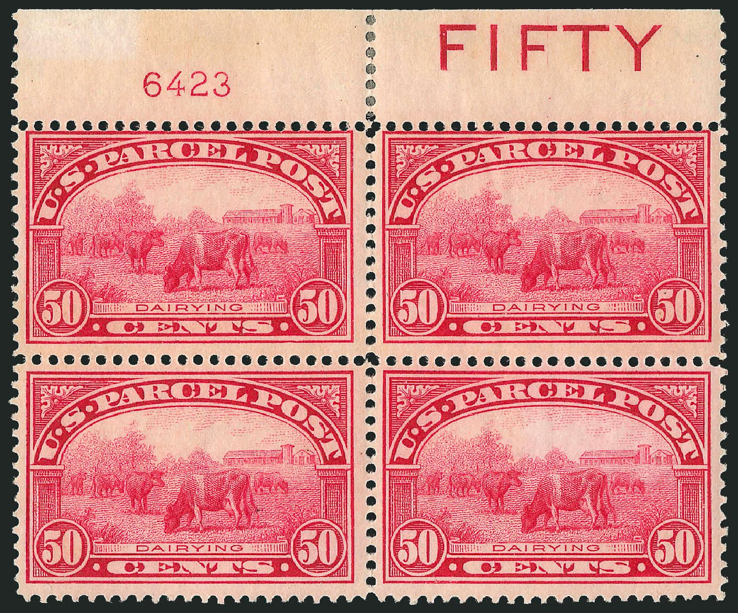 Cost of US Stamps Scott Catalogue #Q10 - 50c 1913 Parcel Post. Robert Siegel Auction Galleries, Jul 2014, Sale 1077, Lot 479