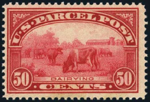 US Stamp Value Scott Catalog #Q10 - 50c 1913 Parcel Post. Harmer-Schau Auction Galleries, Jan 2014, Sale 100, Lot 700