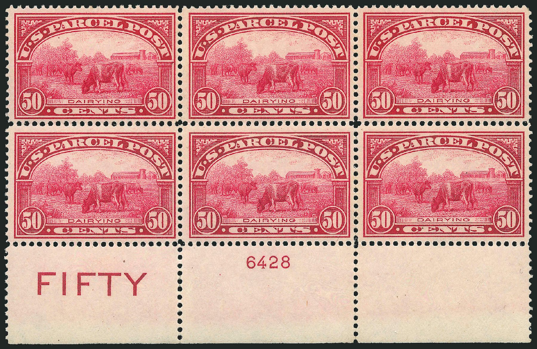 Prices of US Stamps Scott Q10 - 1913 50c Parcel Post. Robert Siegel Auction Galleries, Mar 2015, Sale 1094, Lot 290