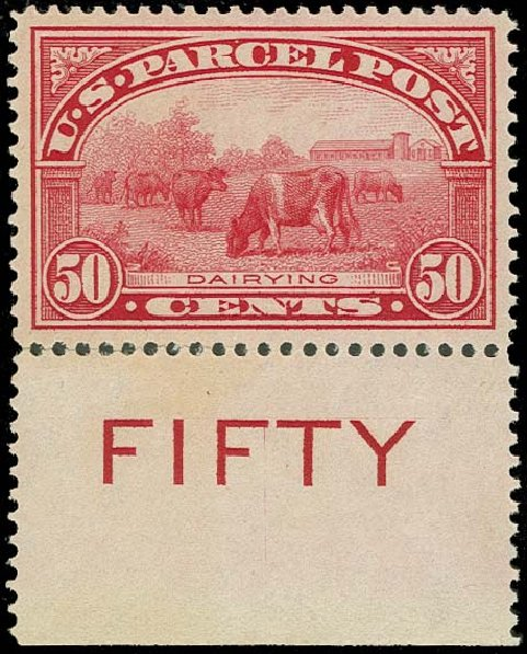 Prices of US Stamps Scott Cat. #Q10: 1913 50c Parcel Post. H.R. Harmer, Oct 2014, Sale 3006, Lot 1541