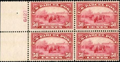 Prices of US Stamp Scott #Q10 - 50c 1913 Parcel Post. Spink Shreves Galleries, Jan 2015, Sale 150, Lot 271