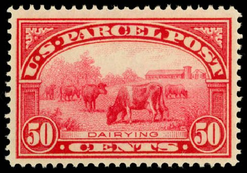 Values of US Stamp Scott Q10 - 1913 50c Parcel Post. Daniel Kelleher Auctions, Dec 2014, Sale 661, Lot 474