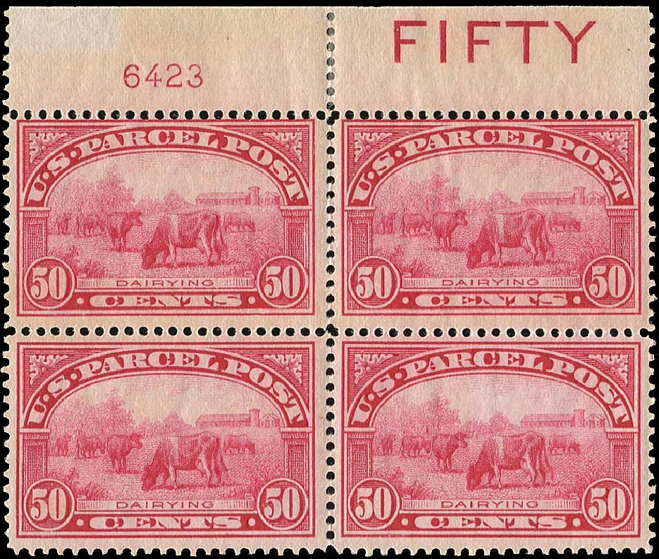 Price of US Stamp Scott # Q10: 1913 50c Parcel Post. Regency-Superior, Jan 2015, Sale 109, Lot 1754