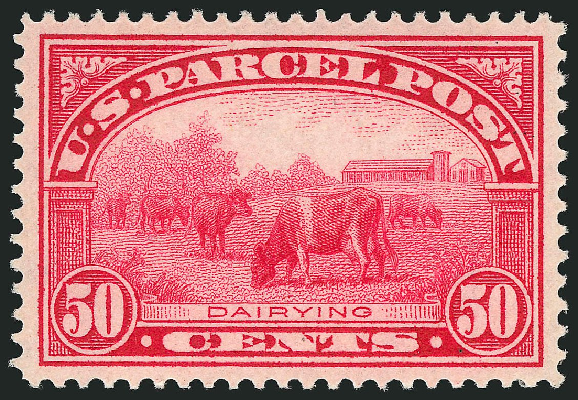 Values of US Stamp Scott Cat. #Q10: 1913 50c Parcel Post. Robert Siegel Auction Galleries, Feb 2015, Sale 1092, Lot 1474