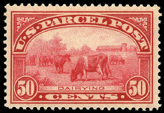 Price of US Stamps Scott #Q10: 1913 50c Parcel Post. Matthew Bennett International, May 2014, Sale 350, Lot 715