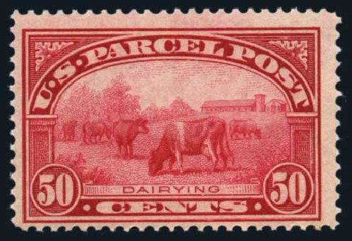US Stamp Values Scott Cat. Q10 - 1913 50c Parcel Post. Harmer-Schau Auction Galleries, Aug 2014, Sale 102, Lot 2215