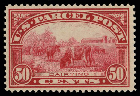 US Stamps Prices Scott Cat. # Q10 - 1913 50c Parcel Post. H.R. Harmer, May 2014, Sale 3005, Lot 1435