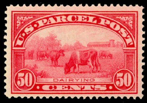 US Stamp Price Scott Catalog #Q10: 1913 50c Parcel Post. Daniel Kelleher Auctions, Sep 2014, Sale 655, Lot 905