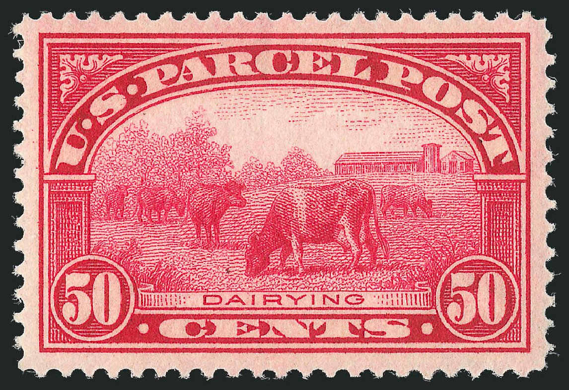 Costs of US Stamp Scott Catalogue Q10: 50c 1913 Parcel Post. Robert Siegel Auction Galleries, Feb 2015, Sale 1092, Lot 1475