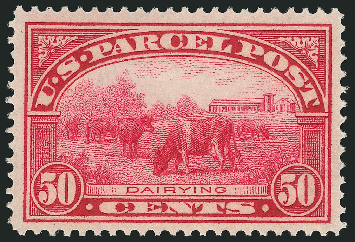 Value of US Stamps Scott Catalog #Q10 - 1913 50c Parcel Post. Robert Siegel Auction Galleries, Dec 2014, Sale 1090, Lot 1702