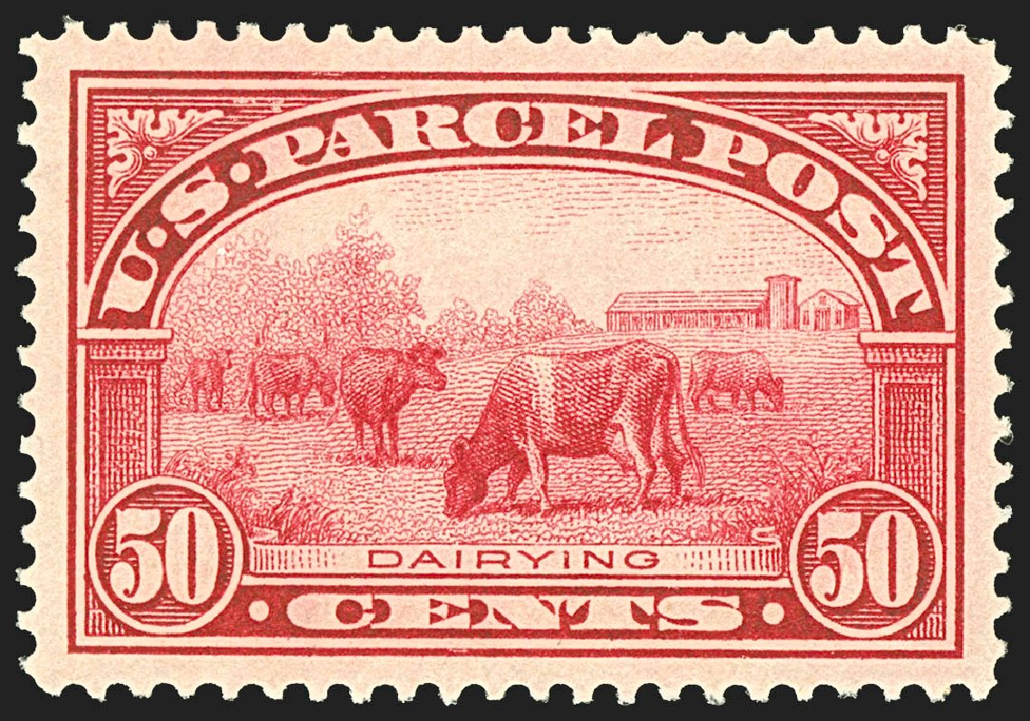 Costs of US Stamps Scott Catalog #Q10: 1913 50c Parcel Post. Robert Siegel Auction Galleries, Jul 2015, Sale 1107, Lot 642