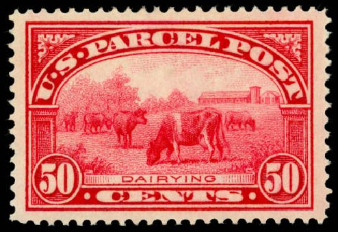 Prices of US Stamps Scott Cat. Q10 - 1913 50c Parcel Post. Daniel Kelleher Auctions, May 2014, Sale 653, Lot 2333