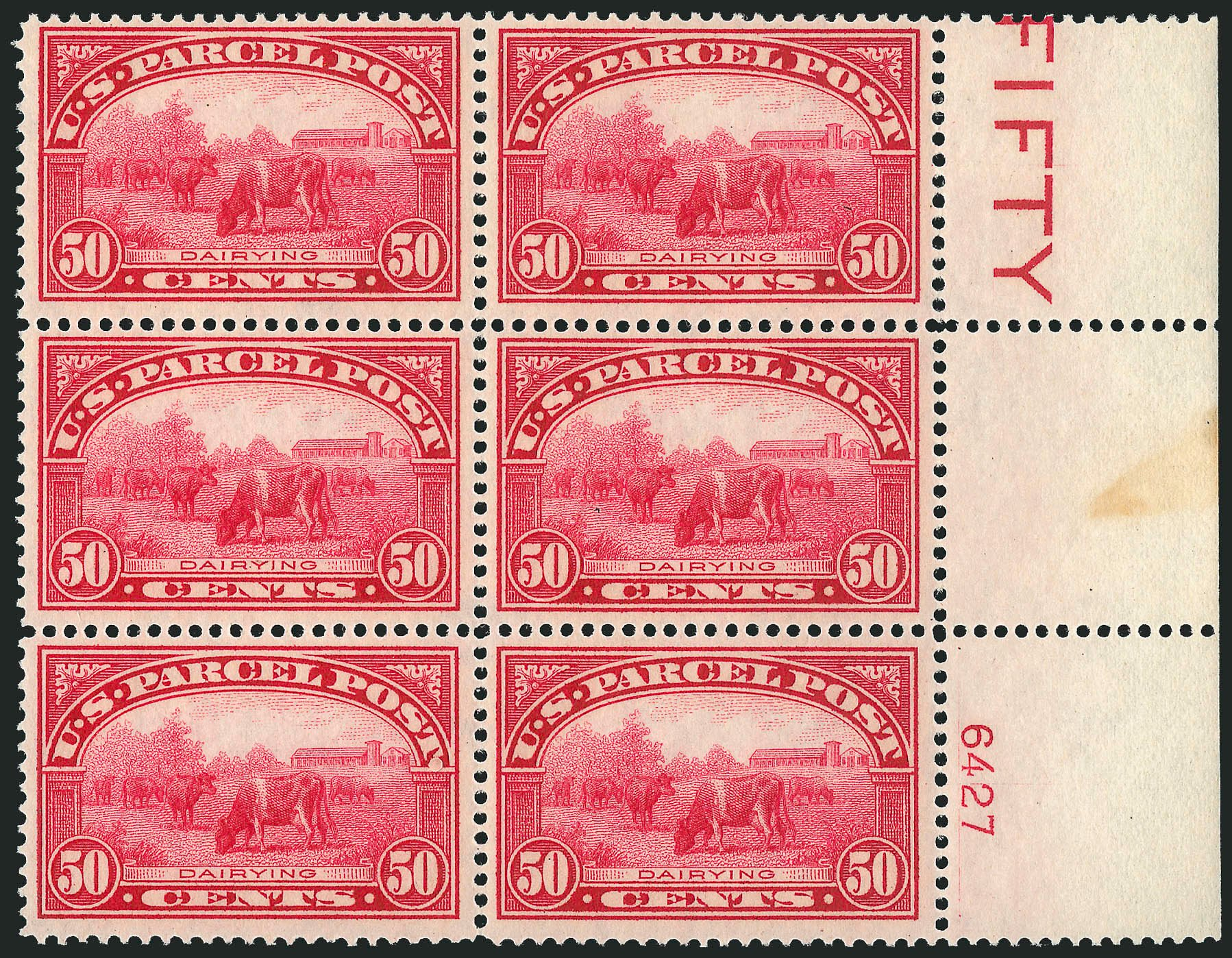 Costs of US Stamps Scott Catalogue #Q10 - 50c 1913 Parcel Post. Robert Siegel Auction Galleries, Dec 2014, Sale 1090, Lot 1703