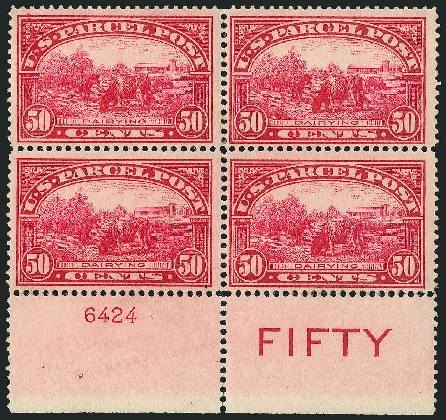 Values of US Stamps Scott Q10 - 50c 1913 Parcel Post. Robert Siegel Auction Galleries, Apr 2015, Sale 1096, Lot 953