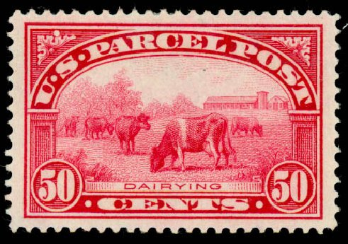 Costs of US Stamps Scott Cat. #Q10 - 1913 50c Parcel Post. Daniel Kelleher Auctions, Aug 2015, Sale 672, Lot 3026