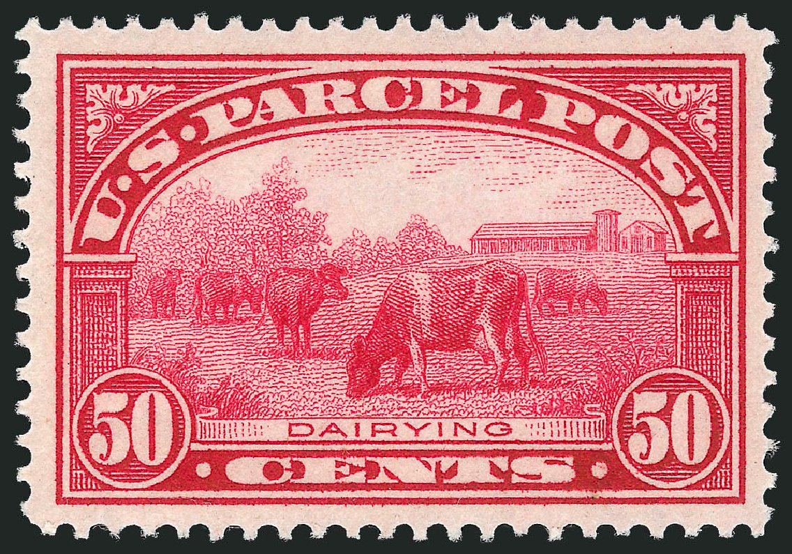US Stamps Values Scott Cat. Q10: 1913 50c Parcel Post. Robert Siegel Auction Galleries, Sep 2014, Sale 1078, Lot 676
