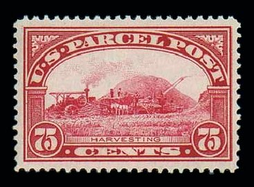 US Stamp Price Scott #Q11 - 1913 75c Parcel Post. Matthew Bennett International, Jun 2007, Sale 319, Lot 1767