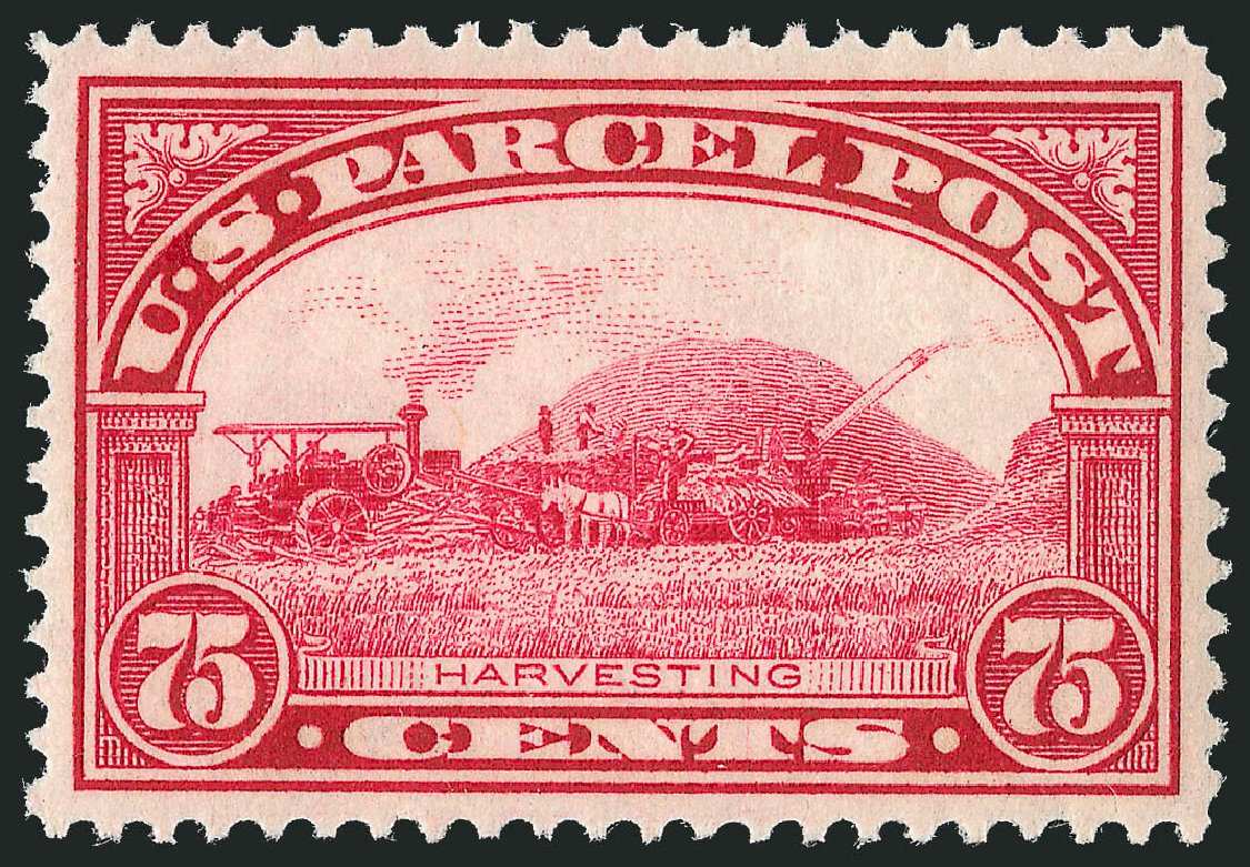 US Stamps Prices Scott Cat. #Q11 - 1913 75c Parcel Post. Robert Siegel Auction Galleries, Sep 2014, Sale 1078, Lot 677