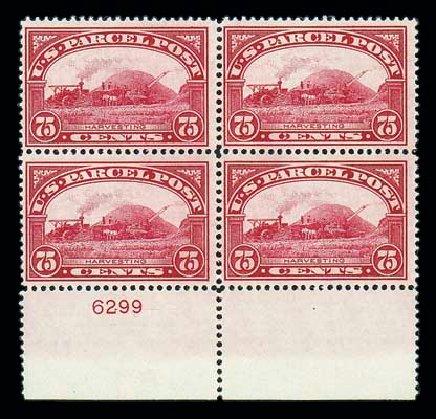 US Stamps Values Scott Cat. Q11 - 1913 75c Parcel Post. Matthew Bennett International, Jun 2007, Sale 319, Lot 1768