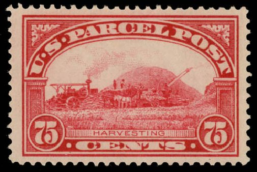US Stamps Values Scott Catalog # Q11: 1913 75c Parcel Post. Daniel Kelleher Auctions, May 2015, Sale 669, Lot 3439