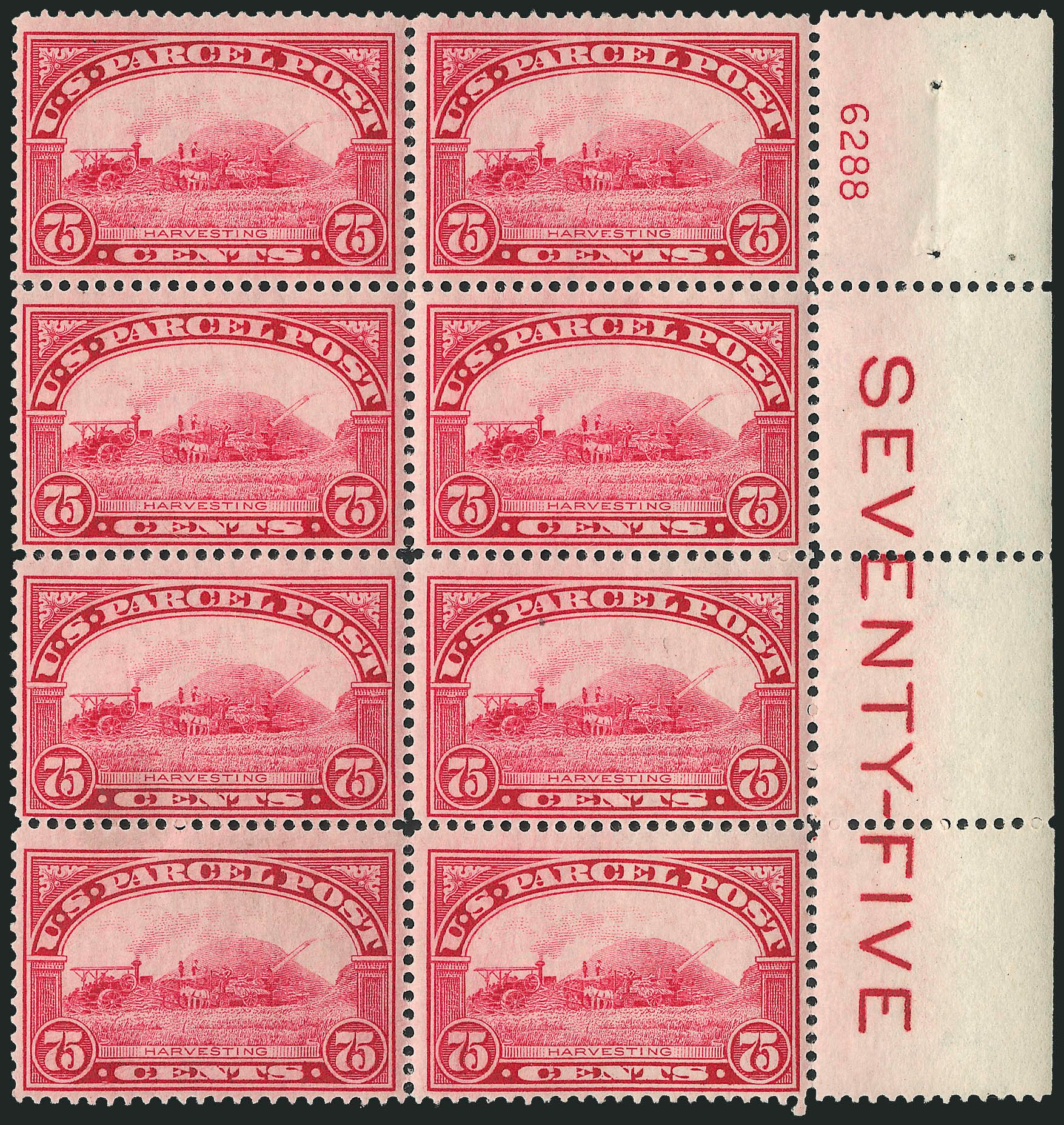 US Stamp Prices Scott Q11: 1913 75c Parcel Post. Robert Siegel Auction Galleries, Apr 2009, Sale 971, Lot 2209