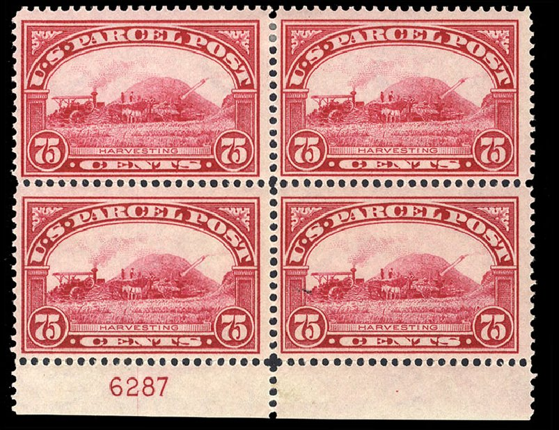 Price of US Stamps Scott Catalog Q11 - 75c 1913 Parcel Post. Cherrystone Auctions, Jul 2015, Sale 201507, Lot 100