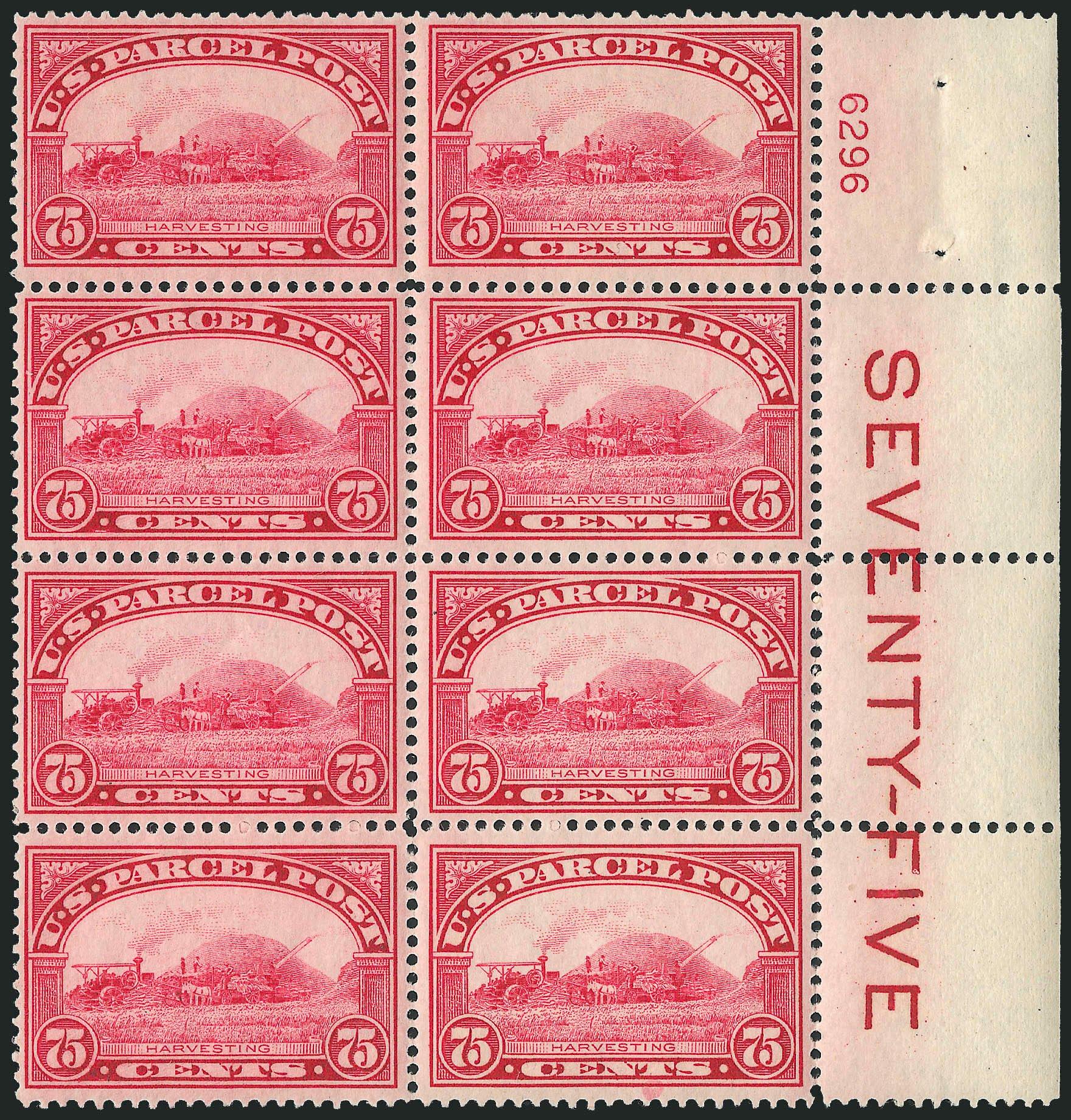 US Stamps Value Scott # Q11 - 1913 75c Parcel Post. Robert Siegel Auction Galleries, Apr 2009, Sale 971, Lot 2211