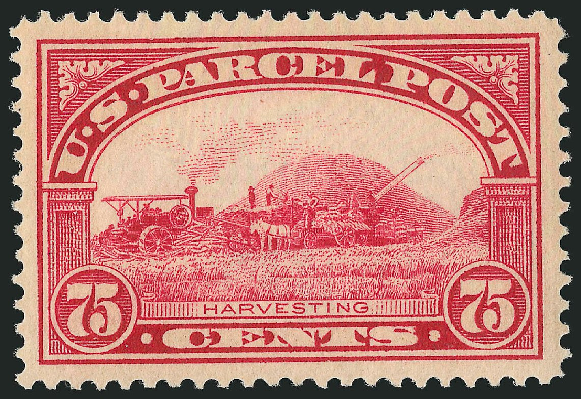 Value of US Stamp Scott Cat. #Q11: 1913 75c Parcel Post. Robert Siegel Auction Galleries, Dec 2014, Sale 1090, Lot 1704