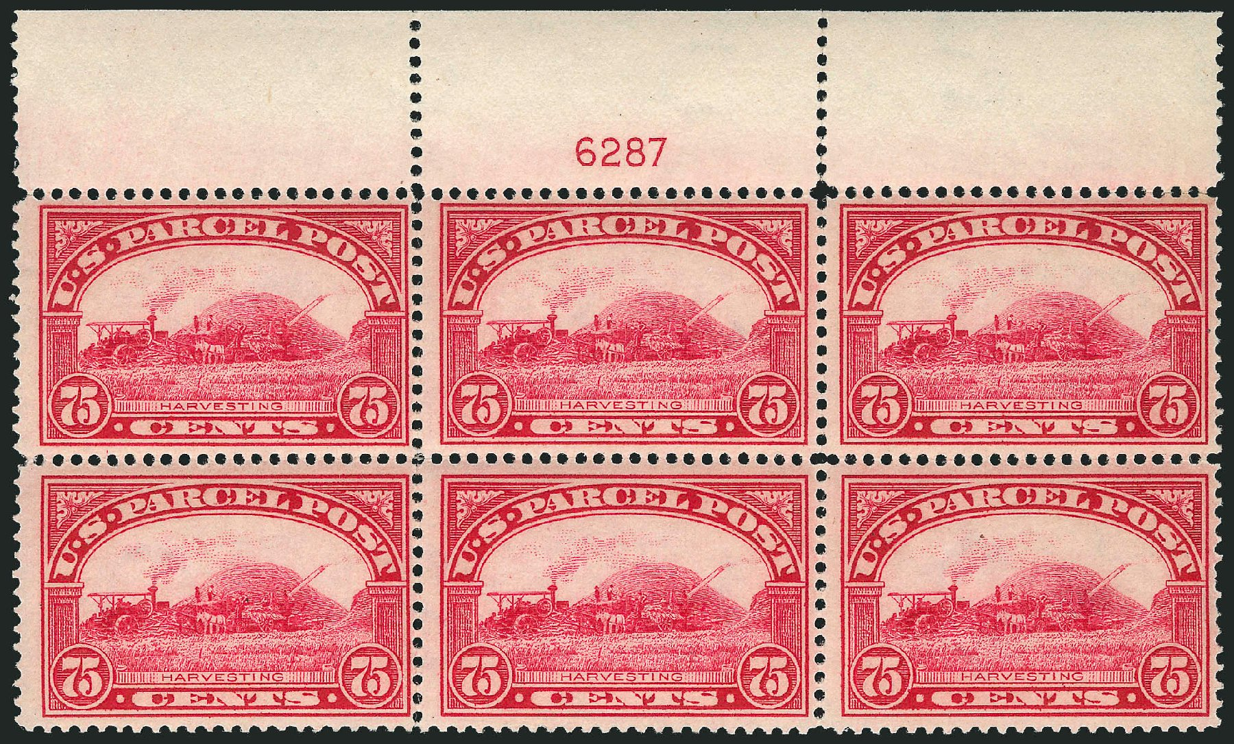 Value of US Stamps Scott Q11 - 1913 75c Parcel Post. Robert Siegel Auction Galleries, Apr 2015, Sale 1096, Lot 954